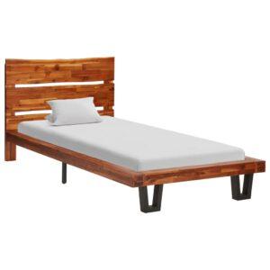 voodiraam loomuliku servaga akaatsiapuidust 90 cm
