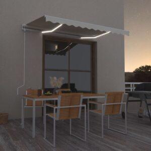 automaatne varikatus LEDi ja tuuleanduriga 350x250 cm kreemjas