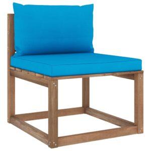 kaubaalustest keskmine diivan siniste istmepatjadega