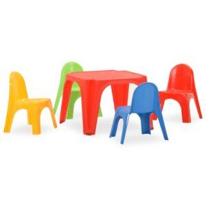 lastelaua ja -toolide komplekt