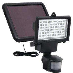 päikesepaneelidega aia LED-prožektor