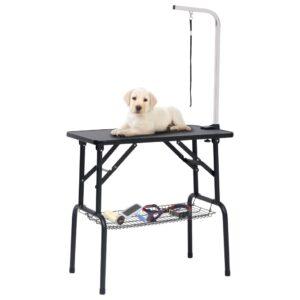 reguleeritav koera pügamise laud koos 1 aasa ja korviga