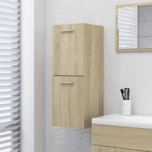 vannitoakapp Sonoma tamm 30 x 30 x 80 cm puitlaastplaat