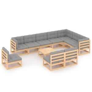 11-osaline aiamööbli komplekt istmepatjadega