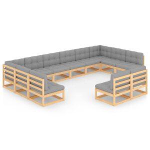 12-osaline aiamööbli komplekt istmepatjadega