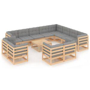13-osaline aiamööbli komplekt istmepatjadega