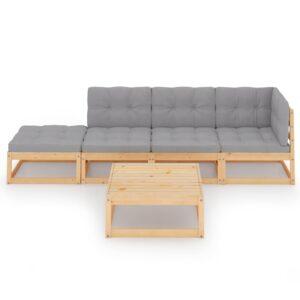 5-osaline aiamööbli komplekt istmepadjadega