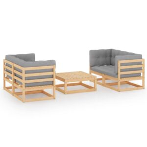 5-osaline aiamööbli komplekt istmepatjadega