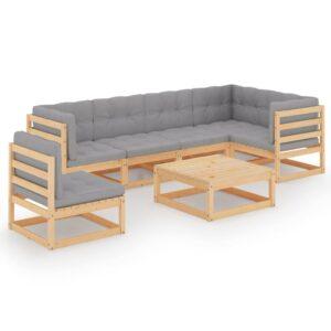 7-osaline aiamööbli komplekt istmepatjadega