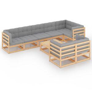 9-osaline aiamööbli komplekt istmepatjadega
