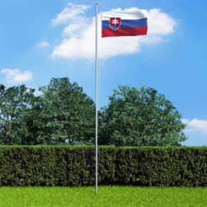 Slovakkia lipp ja lipumast