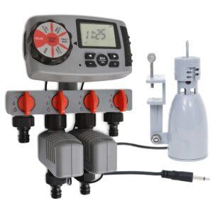 automaatne veetaimer 4 jaama ja vihmaanduriga 3 V