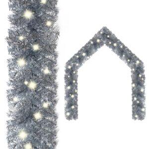 jõuluvanik LED-tuledega 10 m hõbedane
