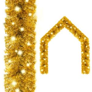 jõuluvanik LED-tuledega 5 m kuldne