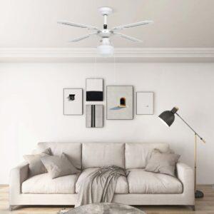 laeventilaator valgustusega 106 cm valge