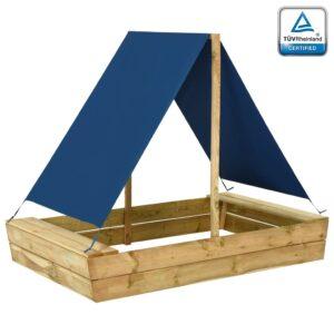 liivakast katusega 160x100x133 cm immutatud männipuidust