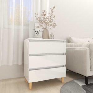 puhvetkapp kõrgläikega valge 60x35x69 cm