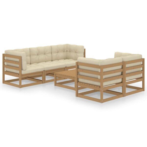 6-osaline aiamööbli komplekt istmepatjadega